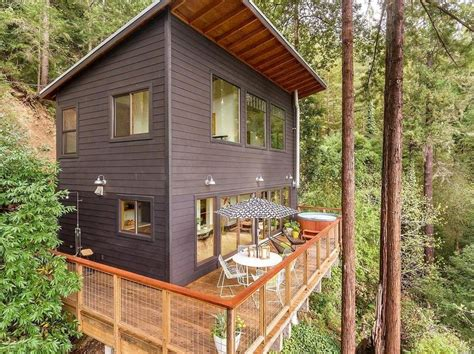 Guerneville Cabins by Russian River Cabin With Mid Century Modern Design