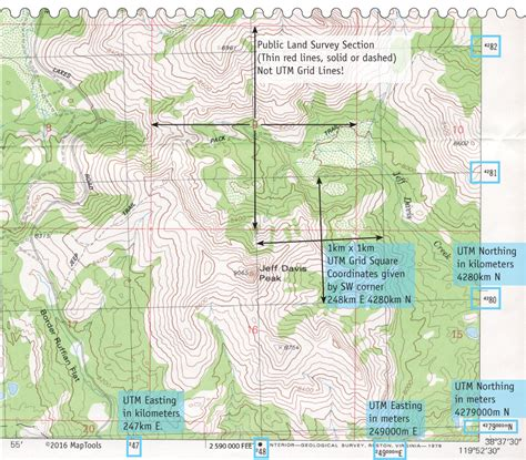 usgs topographic map utm coordinates on usgs topographic maps