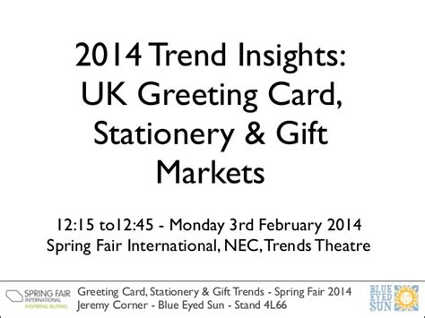 Hallmark Insights Gift Cards - 2014 trend insights uk greeting card stationery and gift markets