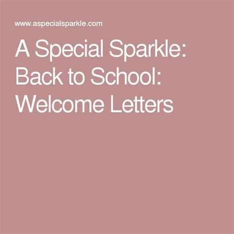 25 best ideas about welcome letters on