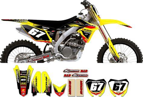 Suzuki Motorcycle Graphics Suzuki Zeronine Graphic Kit Targa2 Yellow Black