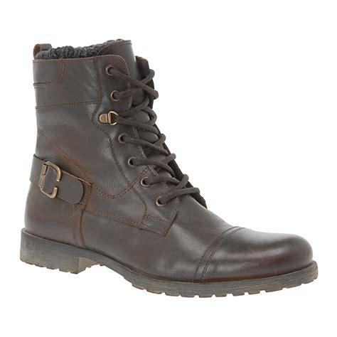 aldo brown boots lyst aldo in brown for