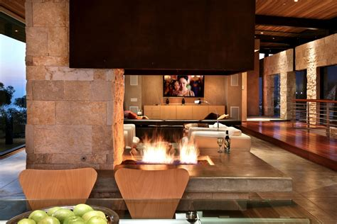 modern open fireplace interior design ideas