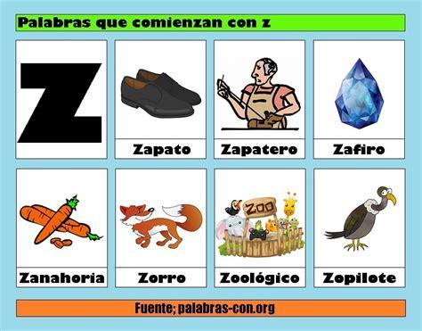 imagenes de palabras en ingles que empiecen con a palabras con la letra z z ejemplos de palabras con z