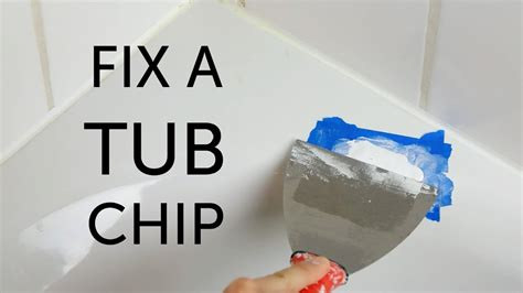 how to fix a chip in bathtub diy bathtub repair youtube