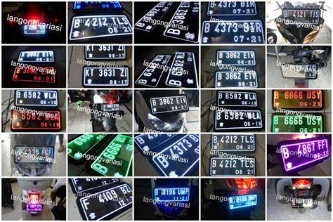 Plat Nomor Akrilik Mobil Lu Grafir terjual plat nomor nyala akrilik motor nyala di huruf n angka aj kaskus