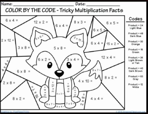 free printable coloring worksheets for math 1 stuff to