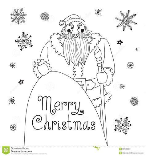 sketch christmas card   mighty santa stock vector illustration  background pattern