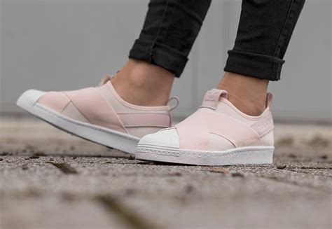 Adidas Slip On 3 adidas superstar slip on w schuhe pink wei 223 im weare shop