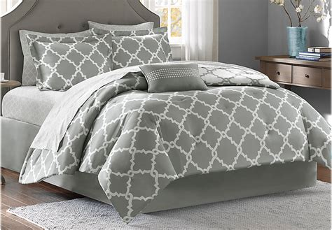 grey comforter sets queen merritt gray 9 pc queen comforter set queen linens gray