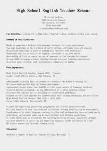 resume samples high english teacher resume sample