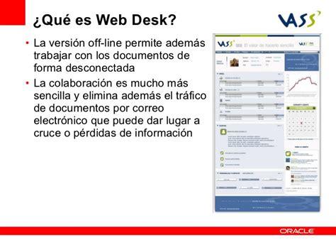 Web Desk by Web Desk Construcci 243 N R 225 Pida De Aplicaciones Con Oracle