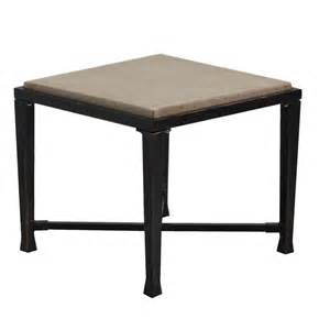 Square Table L Shop Allen Roth Pardini 20 In W X 20 In L Square Aluminum End Table At Lowes