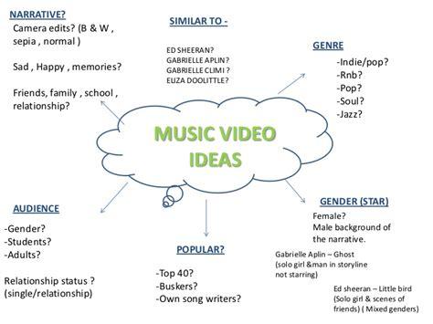 ideas videos music video ideas