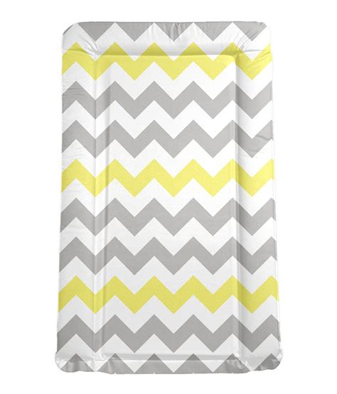 Toddler Changing Mat by Babiie Grey And Yellow Chevron Padded Changing Mat