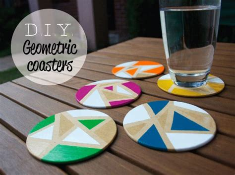 diy coasters chic diy coaster designs with geometric prints