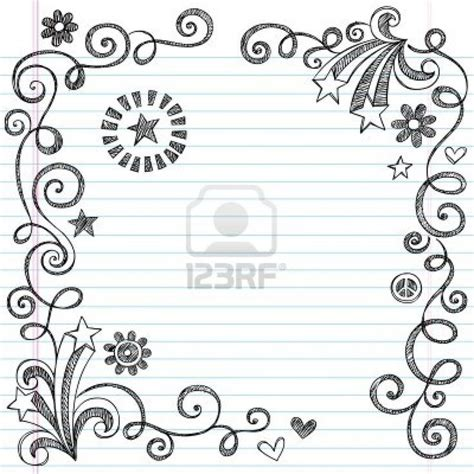 how to draw doodle borders easy border designs for school projects cliparts co