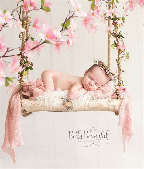 beby on pinterest flower girls baby girl photos and newborn baby girl pose swing flowers halo crown newborn