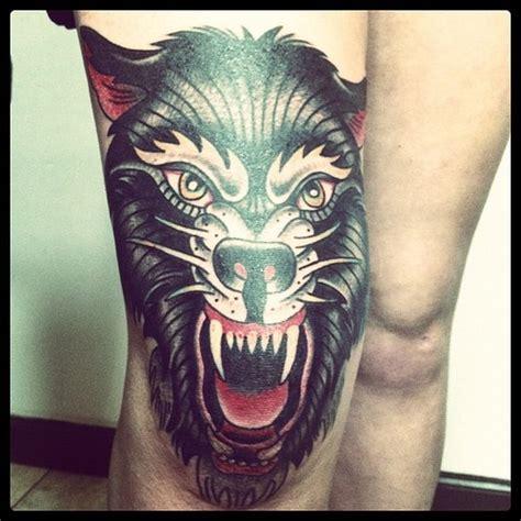 tattoo new school wolf wolf i m in love old school tattoo pinterest posts