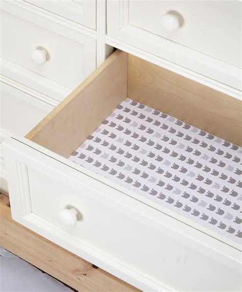 elephant gray drawer liner set of six modern drawer