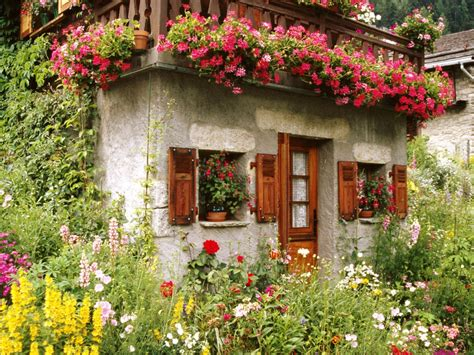 Cottage Wallpapers by Lovely Cottage Garden Wallpaper Free Downloads