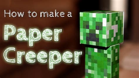 How To Make Paper Template - how to make a paper creeper