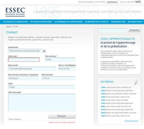 Can An Mba Student Join A School Site Quora by Essec Business School Apprenticeship Website Fran 231 Ois