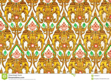 thai pattern history thai pattern design on wall royalty free stock photography