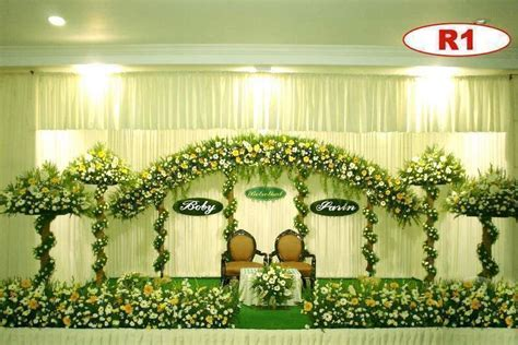 christian wedding stage in kerala   decorations   Wedding