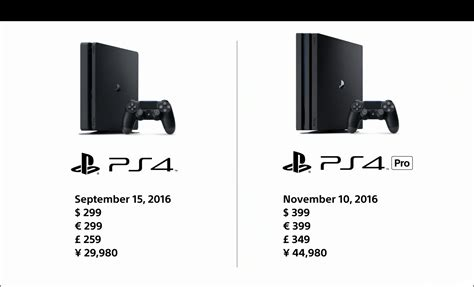 ps4 with price ps4 pro release date and price revealed playstation universe