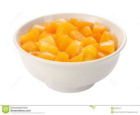 Kitchen Settings Design diced peaches isolated stock photo image 40238117