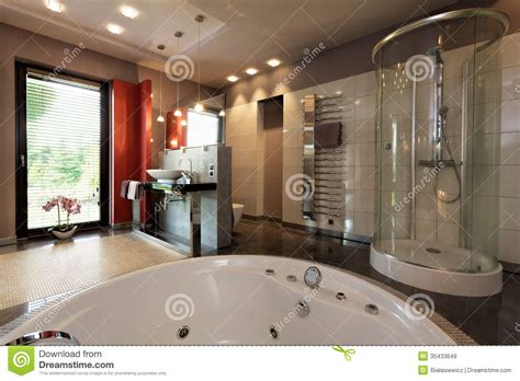 luxury shower baths luxury bathroom with bath and shower royalty free stock