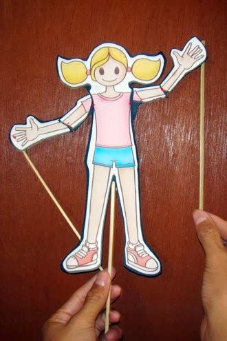 membuat gambar bergerak dengan kertas permainan boneka wayang untuk anak paud anak paud