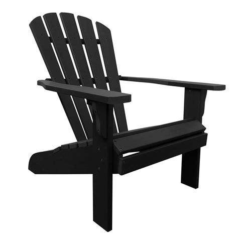 Composite Adirondack Chairs Shop Shine Company Westport Black Composite Patio Adirondack Chair At Lowes