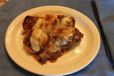 Fast Easy Dinner Open Roast Beef Sandwich by Open Faced Roast Beef Sandwich With Provolone Recipe