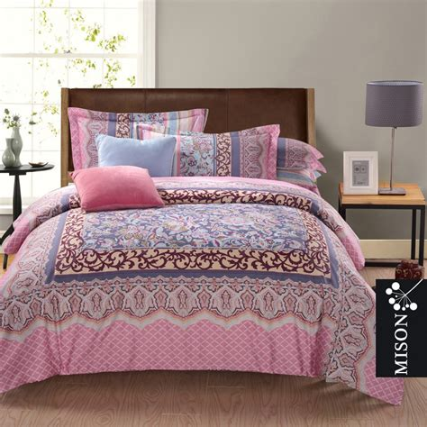 bohemian twin bedding elegant style bedroom design with