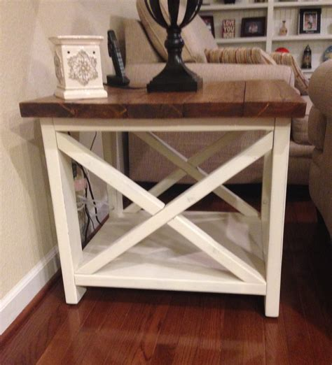 ana white rustic x end table diy projects ana white rustic x end table diy projects