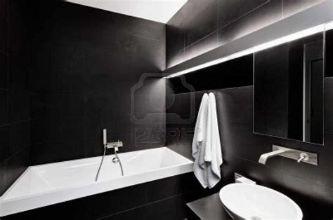 modern bathroom black and white modern minimalism style bathroom interior in black and