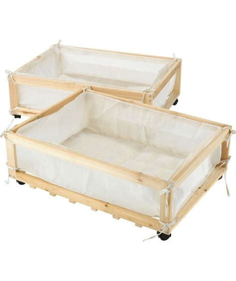 Underbed Drawers Wood by Buy Fabric Wood Underbed Storage Drawers On Castors
