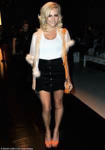London Fashion Week 2012: Pixie Lott shows off her legs in