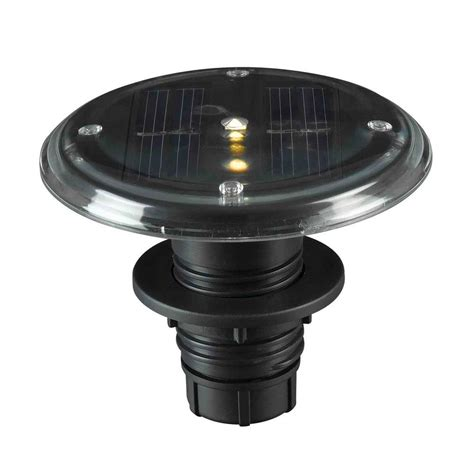 outdoor solar lights home depot kenroy home 3 5 in integrated outdoor solar black deck