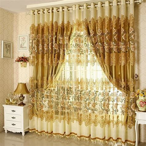 Sale On Curtains on sale curtains luxury beaded for living room tulle blackout curtain window treatment drape