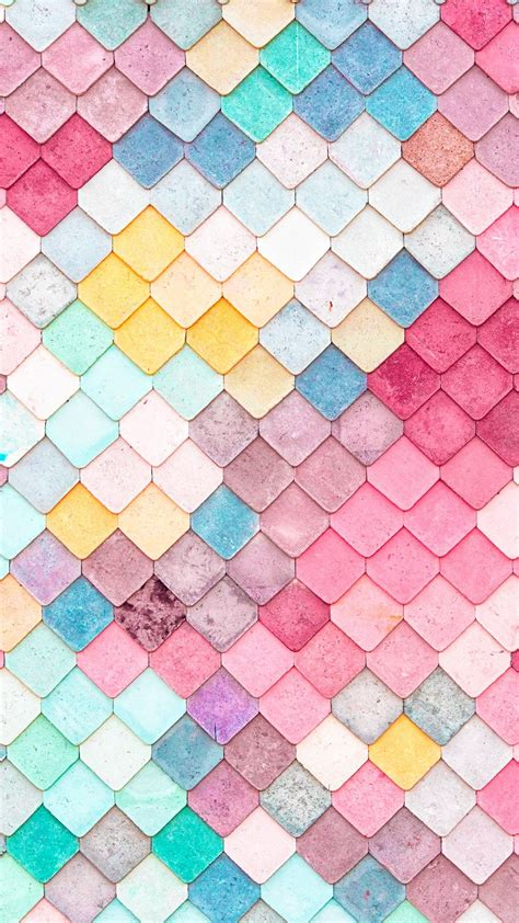colorful roof tiles pattern iphone  wallpaper iphone