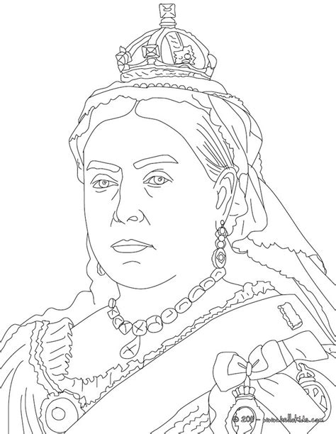 coloring pages of the queen queen victoria coloring pages hellokids com