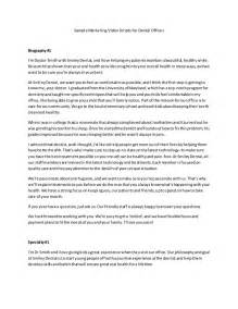 dentist biography template sle marketing scripts for dental offices