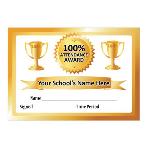 100 attendance certificate template attendance certificate template 100 search results