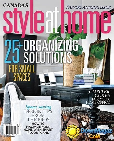 home decor magazine canada style at home canada march 2014 187 download pdf magazines