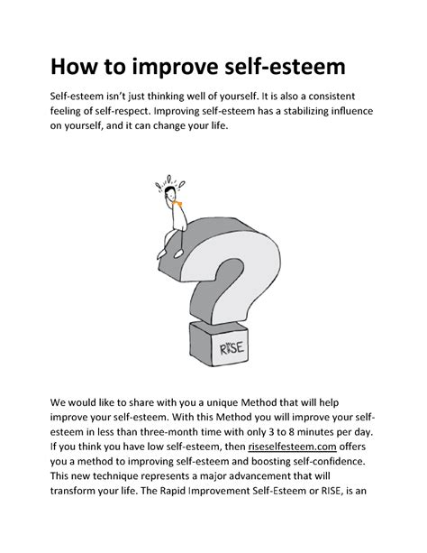 how to improve self esteem authorstream