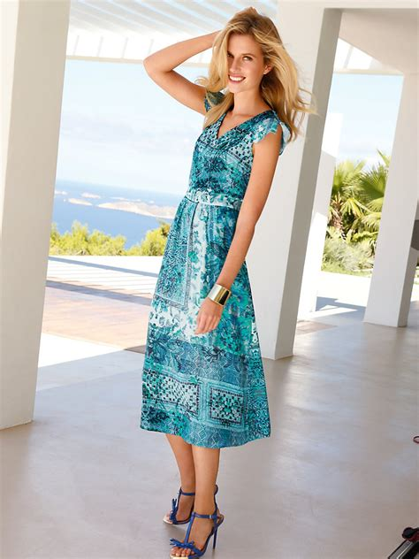 betty barclay betty barclay kleid aqua multicolor