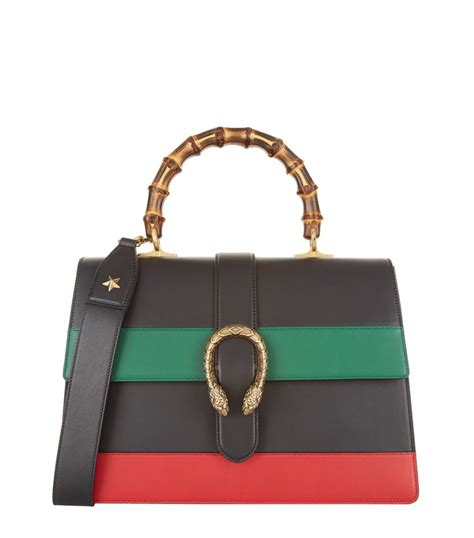 Gucci Dionysus Stripe Bamboo Top Handle Summer gucci dionysus stripe bamboo top handle bag lyst